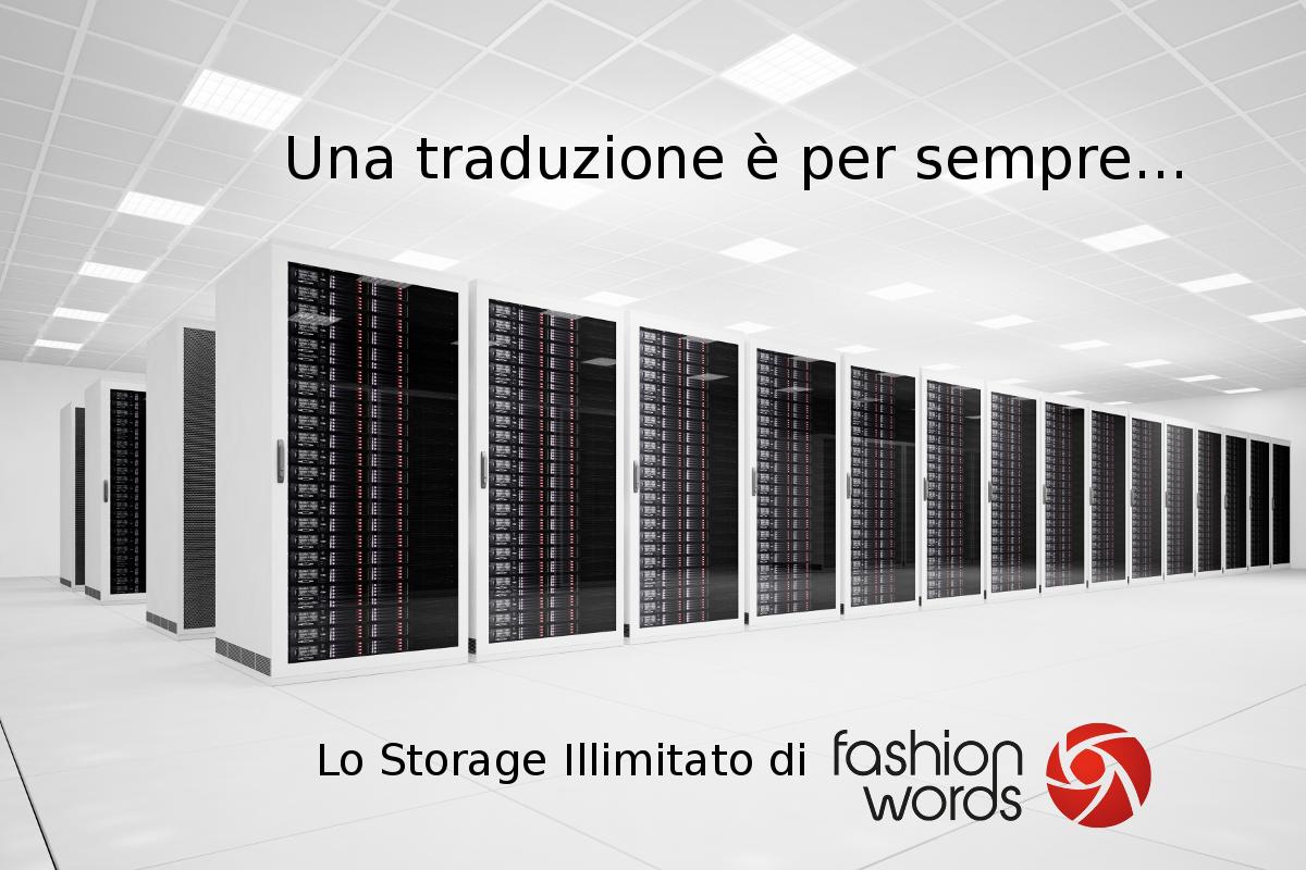 Una traduzione è per sempre: Storage Illimitato